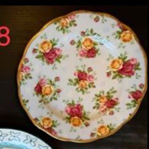 Floral Antique Side Plate
